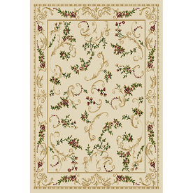 Home Dynamix Geneva 5-ft 2-in x 7-ft 2-in Rectangular Beige Floral Area Rug