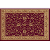 Home Dynamix Rome Red Rectangular Indoor Woven Area Rug (Common: 8 x 10; Actual: 94-in W x 122-in L)