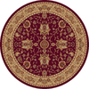 Home Dynamix 5-ft 2-in Round Red Rome Area Rug