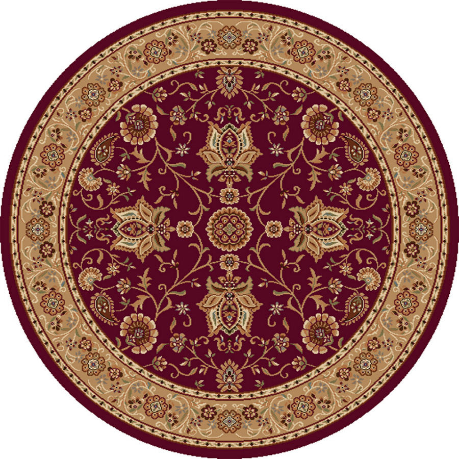 shop home dynamix rome round red woven area rug common 8