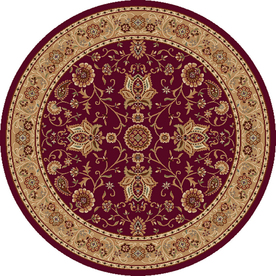 Home Dynamix 7-ft 10-in Round Red Rome Area Rug