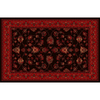 Home Dynamix 7-ft 10-in x 10-ft 9-in Black Sofia Area Rug