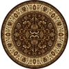 Home Dynamix 7-ft 10-in Round Chocolate Oriental Area Rug