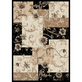 Home Dynamix Supreme Black Rectangular Indoor Woven Area Rug (Common: 8 x 10; Actual: 94-in W x 125-in L)