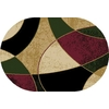 Home Dynamix Supreme 3 3-ft 3-in x 4-ft 11-in Oval Multicolor Block Area Rug