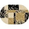 Home Dynamix Supreme 3 3-ft 3-in x 4-ft 11-in Oval Tan Solid Area Rug