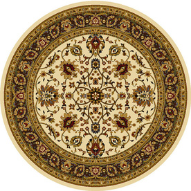 Home Dynamix Paris 5-ft 2-in x 5-ft 2-in Round Beige Floral Area Rug