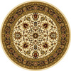 Home Dynamix Paris 7-ft 10-in x 7-ft 10-in Round Beige Floral Area Rug