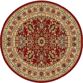 Home Dynamix Paris Red Round Indoor Woven Area Rug (Common: 7 x 7; Actual: 94-in W x 94-in L)