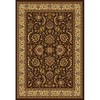 Home Dynamix Brussels 5-ft 2-in x 7-ft 2-in Rectangular Tan Floral Area Rug