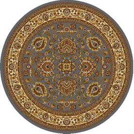 Home Dynamix Brussels Blue and Ivory Round Indoor Woven Area Rug (Common: 5 x 5; Actual: 62-in W x 62-in L)