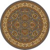 Home Dynamix Brussels 62-in x 62-in Round Blue Floral Area Rug