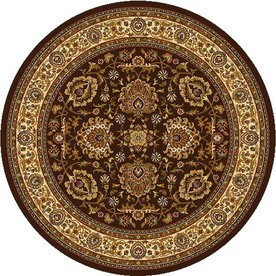 Home Dynamix Brussels Brown and Ivory Round Indoor Woven Area Rug (Common: 8 x 8; Actual: 94-in W x 94-in L)