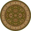 Home Dynamix Brussels 7-ft 10-in x 7-ft 10-in Round Green Floral Area Rug