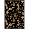 Home Dynamix Dublin 5-ft 2-in x 7-ft 2-in Rectangular Black Floral Area Rug