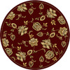 Home Dynamix Dublin 5-ft 2-in x 5-ft 2-in Round Red Floral Area Rug