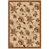 Home Dynamix Lisbon 5-ft 2-in x 7-ft 2-in Rectangular Beige Floral Area Rug
