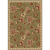 Home Dynamix Lisbon 5-ft 2-in x 7-ft 2-in Rectangular Green Floral Area Rug