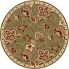 Home Dynamix Lisbon 5-ft 2-in x 5-ft 2-in Round Green Floral Area Rug