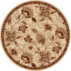 Home Dynamix Lisbon 7-ft 10-in x 7-ft 10-in Round Beige Floral Area Rug