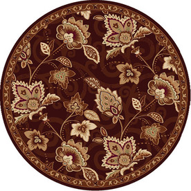 Home Dynamix Lisbon Brown Round Indoor Woven Area Rug (Common: 8 x 8; Actual: 94-in W x 94-in L)