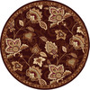 Home Dynamix Lisbon 7-ft 10-in x 7-ft 10-in Round Tan Floral Area Rug