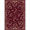 Home Dynamix Geneva 5-ft 2-in x 7-ft 2-in Rectangular Red Floral Area Rug