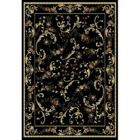 Home Dynamix Geneva Black Rectangular Indoor Woven Area Rug (Common: 5 x 7; Actual: 62-in W x 86-in L)