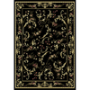 Home Dynamix Geneva 5-ft 2-in x 7-ft 2-in Rectangular Black Floral Area Rug