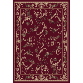 Home Dynamix Geneva Red Rectangular Indoor Woven Area Rug (Common: 8 x 10; Actual: 124-in W x 92-in L)