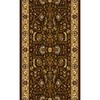 Home Dynamix Brussels 2-ft 3-in W x 8-ft L Brown Runner