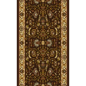 Home Dynamix Brussels Brown and Ivory Rectangular Indoor Woven Runner (Common: 2 x 10; Actual: 27-in W x 120-in L)