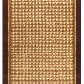 Home Dynamix Madrid 2-ft 3-in W x 15-ft L Brown Runner
