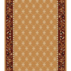 Home Dynamix London 2-ft 3-in W x 21-ft L Brown Runner