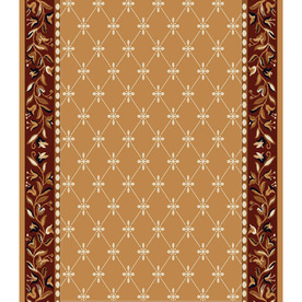 Home Dynamix London 2-ft 3-in W x 22-ft L Brown Runner