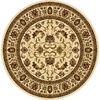 Home Dynamix 7-ft 10-in x 7-ft 10-in Round White Floral Area Rug