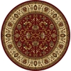 Home Dynamix 7-ft 10-in x 7-ft 10-in Round Red Floral Area Rug