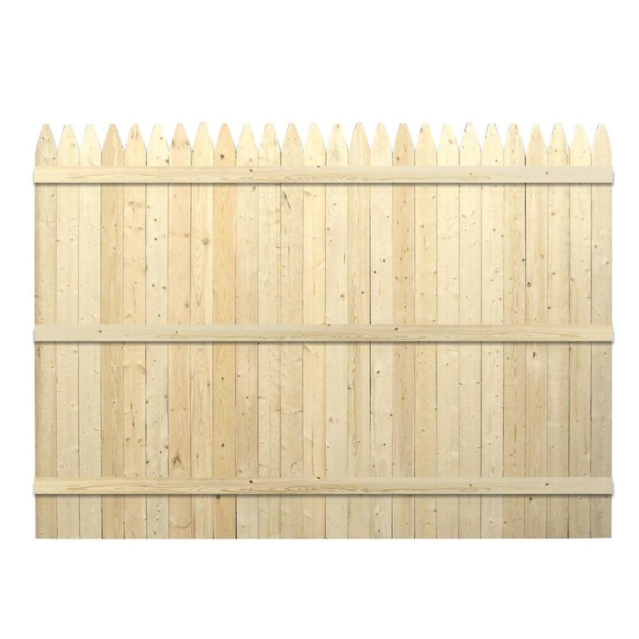 Shop Spruce Stockade Wood Fence Privacy Panel Common 6 Ft X 8 Ft