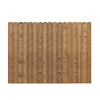Barrette 6-ft x 8-ft Spruce Dog-Ear Wood Fence Panel