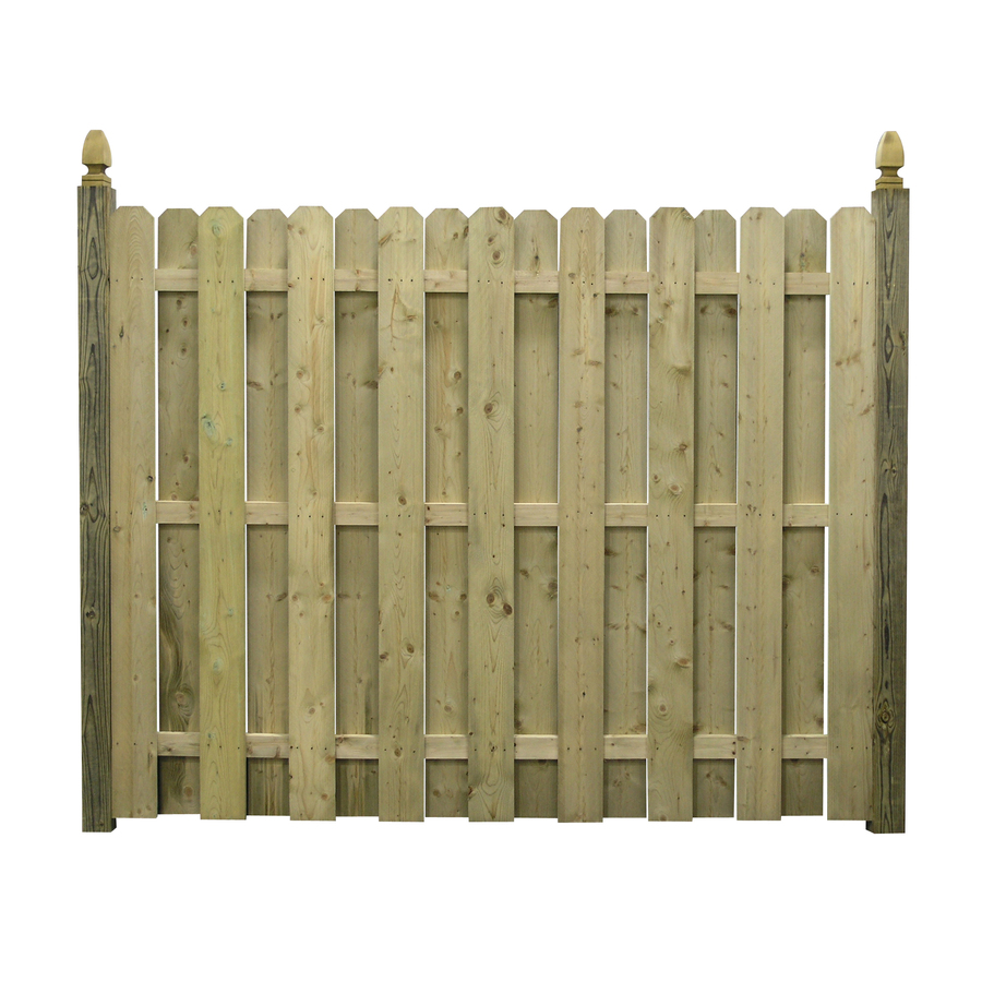 Shop Spruce Dog Ear Pressure Treated Wood Fence Panel Common 6 Ft X