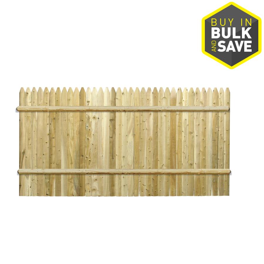 Shop White Cedar Stockade Pressure Treated Wood Fence