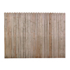 6-ft x 8-ft Spruce Dog-Ear Wood Fence Panel