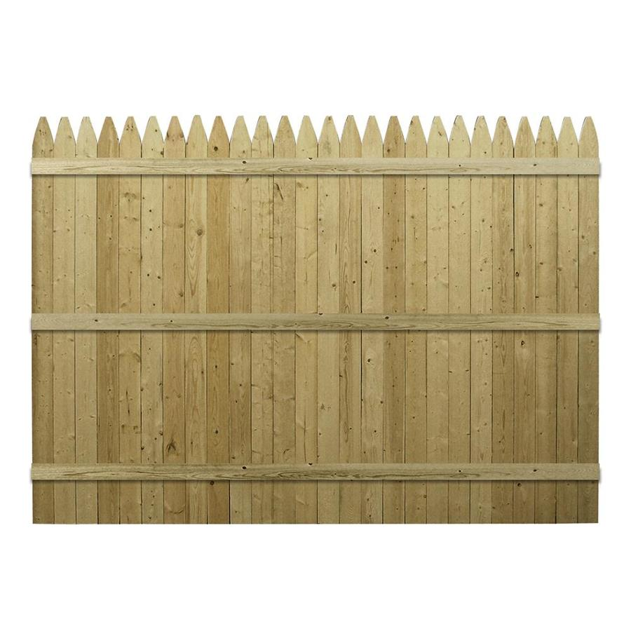 Shop Spruce Stockade Pressure Treated Wood Fence Privacy