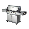 Blue Ember Blue Ember Professional Cast Aluminum 5-Burner (55,000-BTU) Liquid Propane Gas Grill with Side Burner, Rotisserie Burner, and Integrated Smoke Box