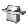 Blue Ember Cast Aluminum 5-Burner (55,000-BTU) Gas Grill with Side and Rotisserie Burner and Integrated Smoker Box