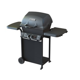 Master Forge Black/Porcelain Coated 2-Burner (30,000-BTU) Liquid Propane Gas Grill
