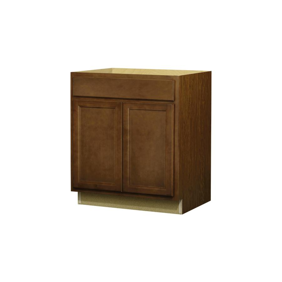 In W X 24 In D Napa Saddle Door And Drawer Base Cabinet At