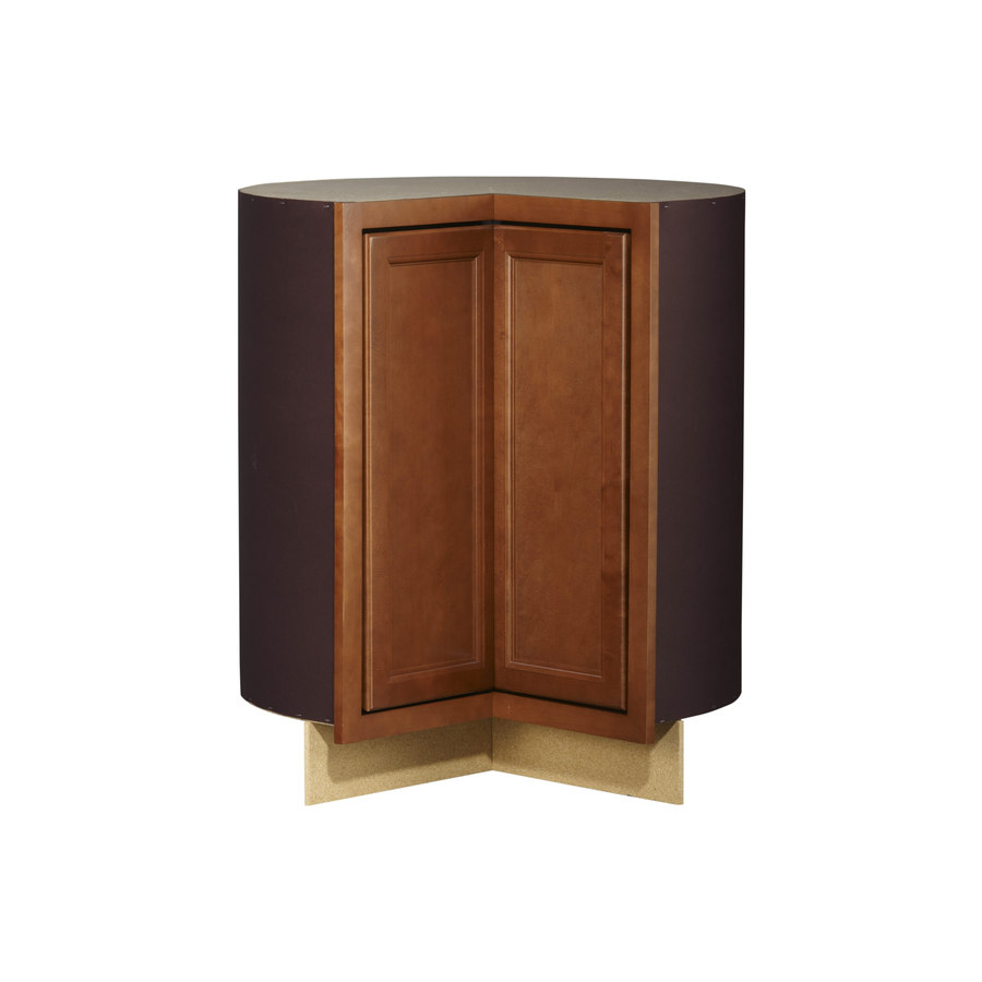 shop kitchen classics 35 in h x 36 in w x 24 in d napa saddle lazy susan base cabinet at. Black Bedroom Furniture Sets. Home Design Ideas