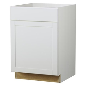 Kitchen Classics Arcadia 24-in W x 35-in H x 23.75-in D Finished White Door and Drawer Base Cabinet