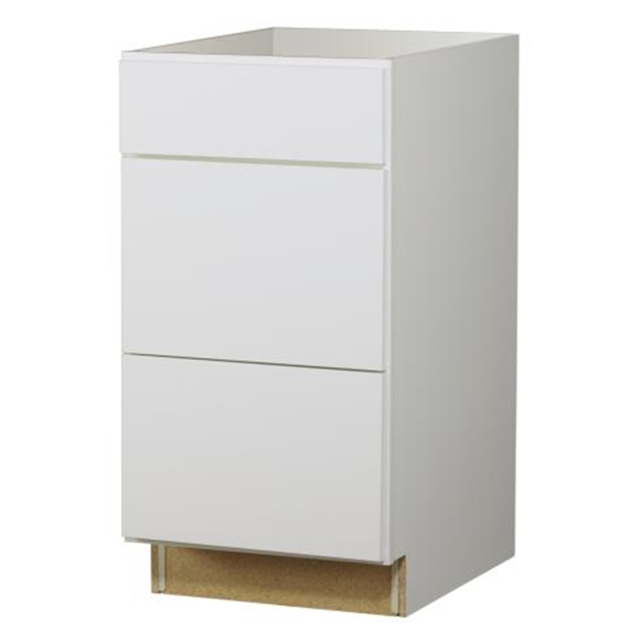 18 In W X 23 3 4 In D Arcadia White Drawer Base Cabinet At